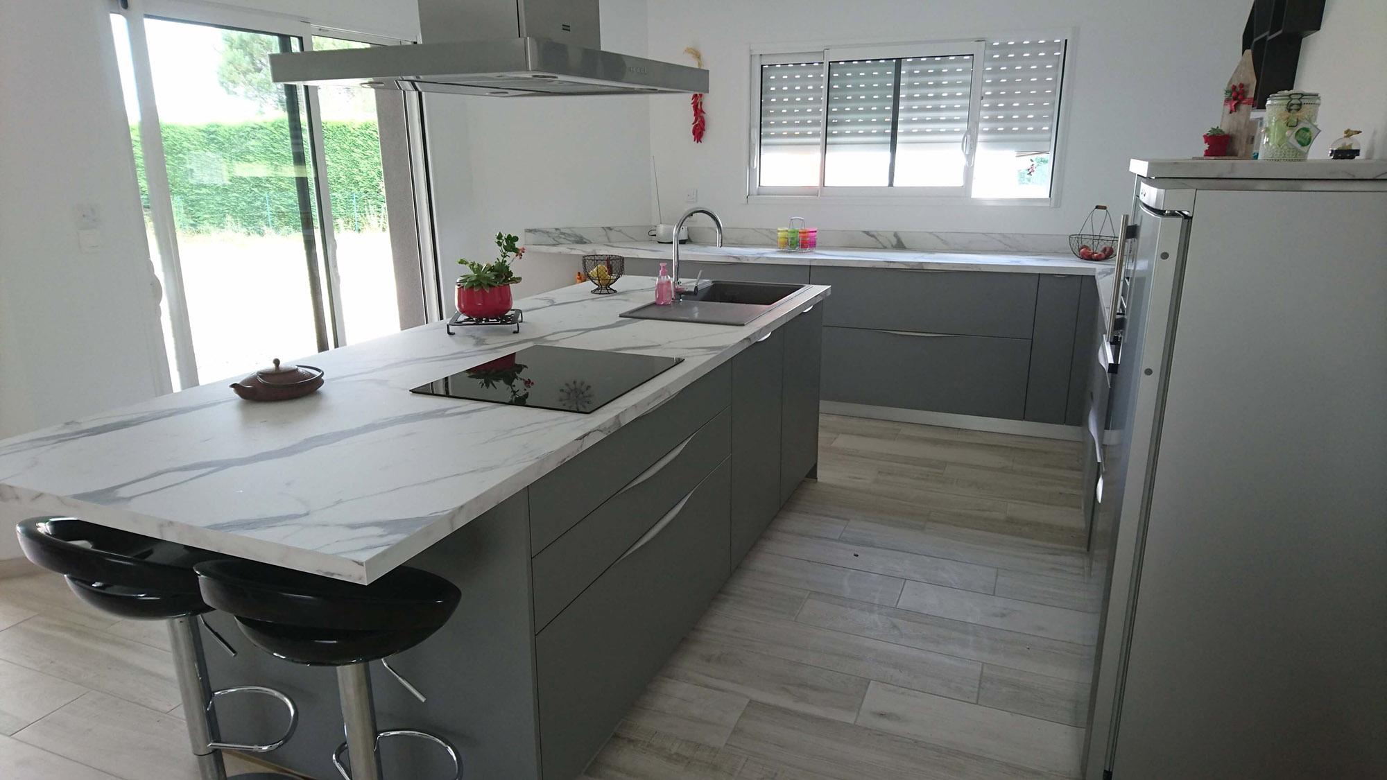 Cuisine Gris Anthracite Laquée fabrication et aménagement de cuisine modernes à souprosse